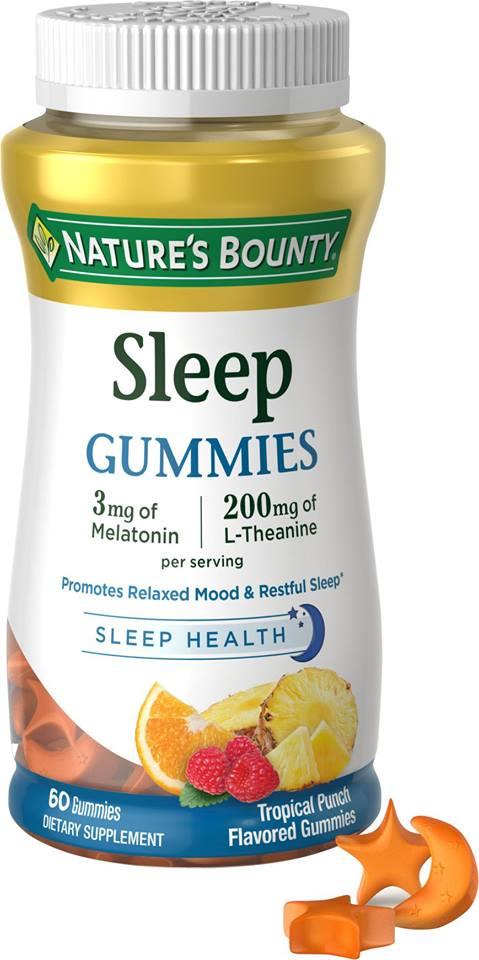 วิตามินช่วยนอนหลับ Nature's Bounty Sleep Gummies 60 ชิ้น