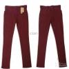 SALE : กางเกงคนท้อง ผ้าผสมสเปนเด็กซ์ยืดหยุ่นดีมาก สีแดงอมน้ำตาล สะโพก 37-38 นิ้ว
