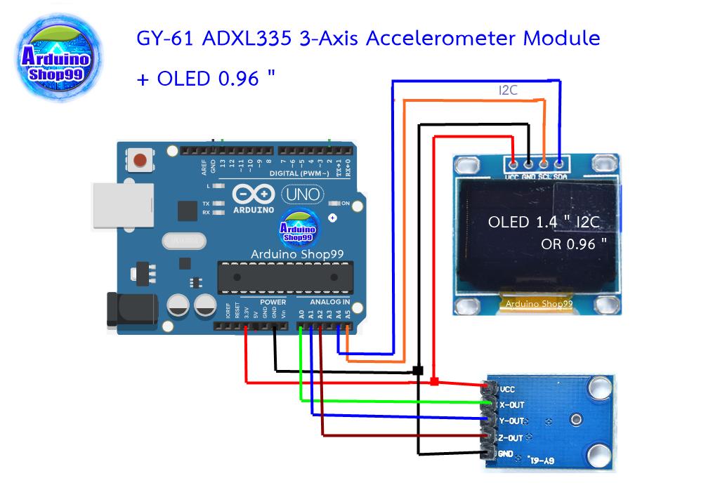 GY-61 ADXL335 module angle sensor module tilt angle module has code