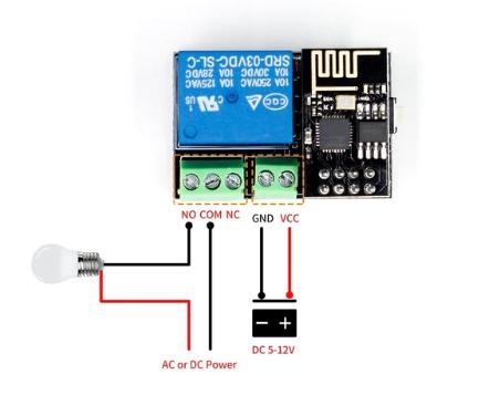 ESP8266 ESP-01S 5V WiFi Relay Module Things Smart Home Remote Control  Switch for Arduino Phone APP ESP01S Wireless WIFI Module  โมดูลไวฟายรีเลย์สำหรับ