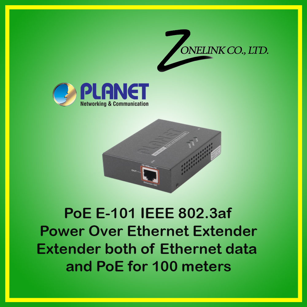 PLANET POE-E101 IEEE 802.3af Power over Ethernet Extender NEW IN BOX
