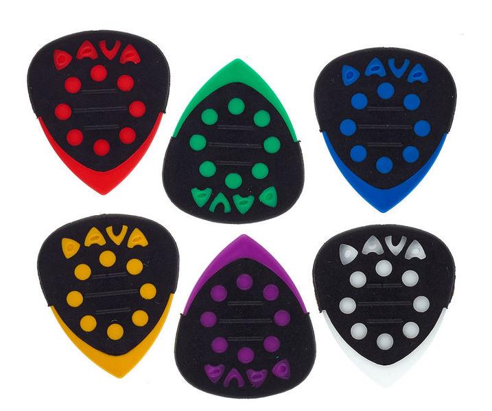Dava Control Power Grips Guitar Pick Pack of 6 Picks